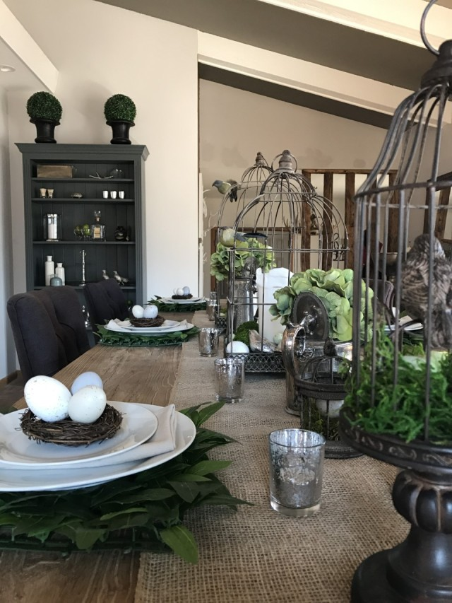 Rustic country Easter table setting