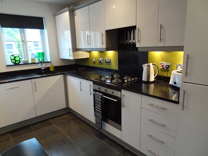 Tidy kitchen staged for sale